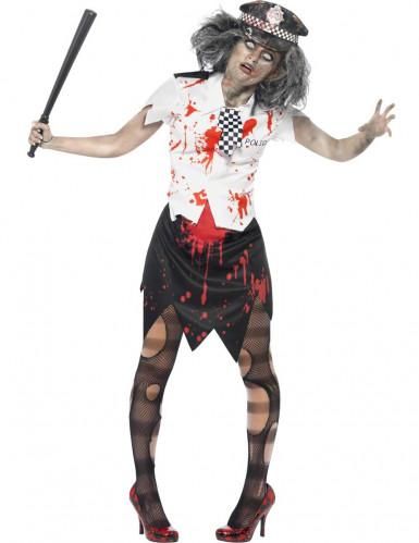 Costume Halloween poliziotta zombie