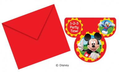 6 biglietti d'invito Mickey Clubhouse™per bambino
