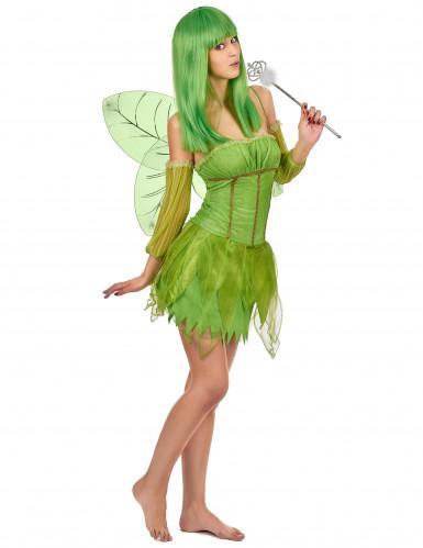 Costume verde da fata da donna