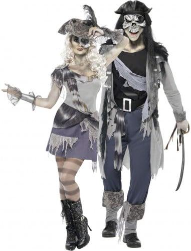 Costume di Halloween per uomo e donna da pirata fantasma