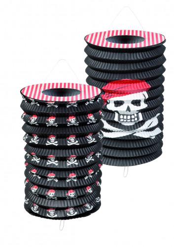 Lanterne decorate con teschi pirata