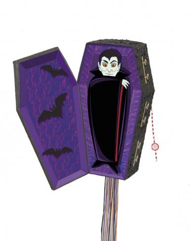 Pignatta a forma di bara da vampiro per Halloween