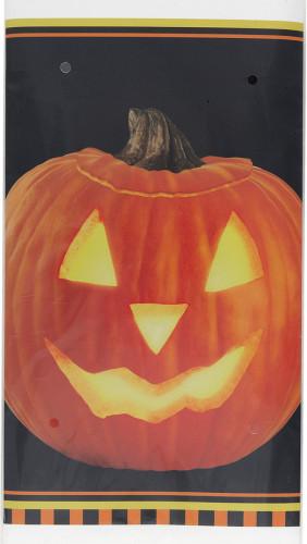 Tovaglia di plastica con la zucca per Halloween