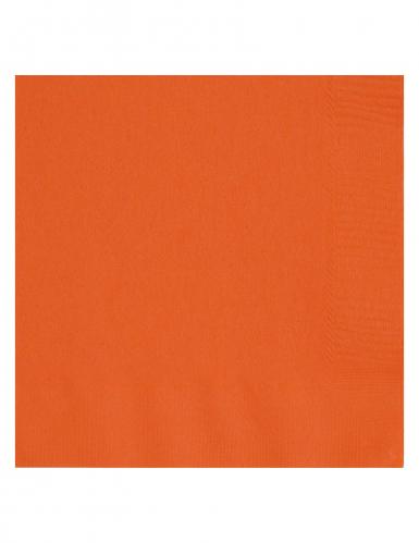20 tovaglioli arancioni di carta