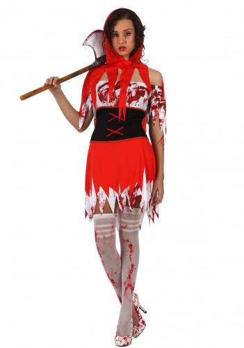 Costume da cappuccetto rosso adulto per donna