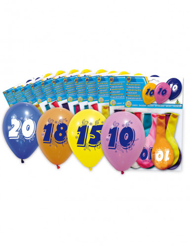 8 Palloncini numero 50