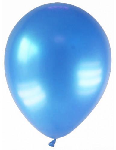 12 Palloncini color blu metallizzato