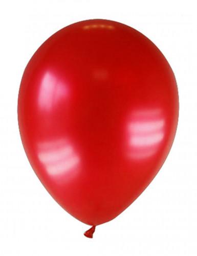 12 palloncini rosso metallizzato