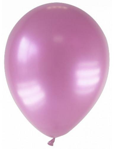 12 palloncini color rosa metallizzato