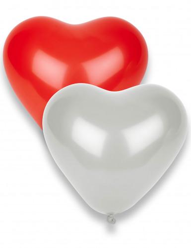 8 Palloncini a forma di cuore