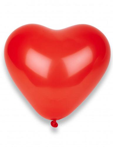 8 palloncini rossi a cuore