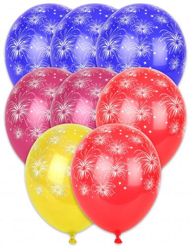 8 palloncini con fuochi d'artificio