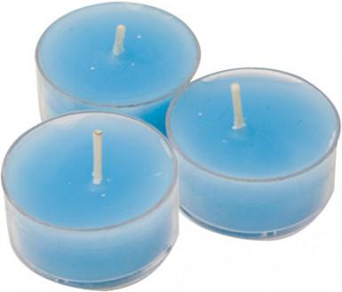 6 candele scaldavivande color azzurro