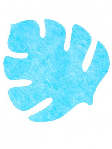 4 tovagliette a forma di foglia color turchese