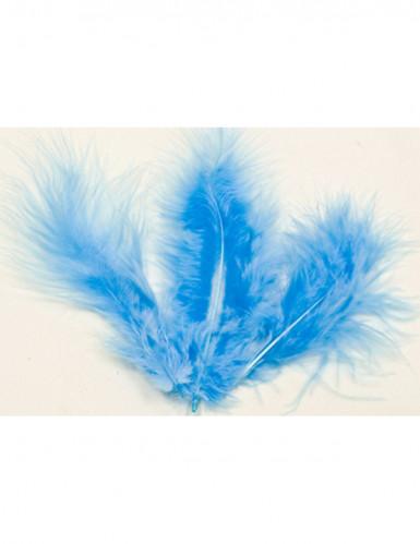Set di 20 piume di colore blu per decorazioni