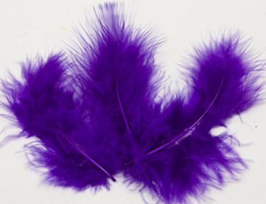 20 piume decorative color prugna