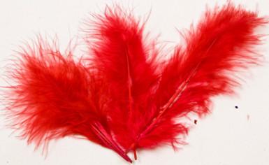 20 piume rosse per decorazione
