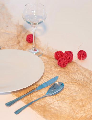 6 palle in vimini di colore rosso diametro 3.5 cm-1