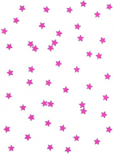 Confezione 48 stelle a specchio fucsia 1x1 cm