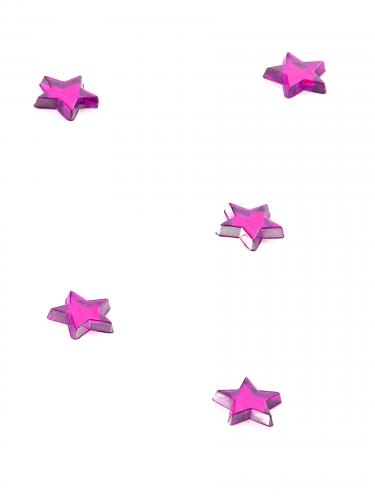 Confezione 48 stelle a specchio fucsia 1x1 cm-1