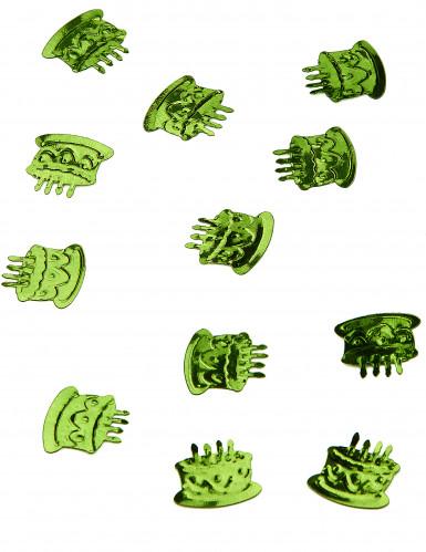 Coriandoli da tavolo a forma di torta di compleanno verde menta
