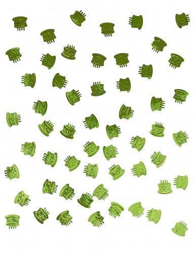 Coriandoli da tavolo a forma di torta di compleanno verde menta-1