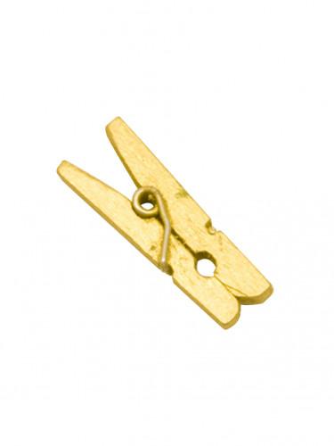 10 mini mollette da bucato in legno dorate