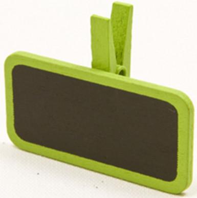 6 mollette con lavagnetta di colore verde
