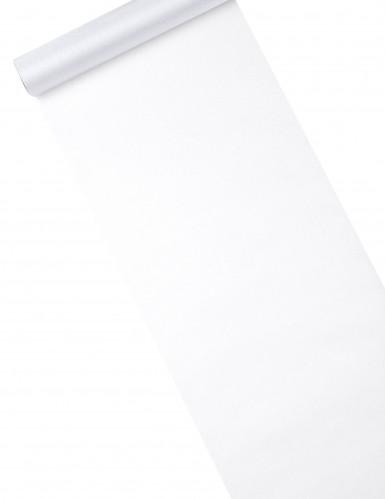 Runner da tavola in organza brillante bianca