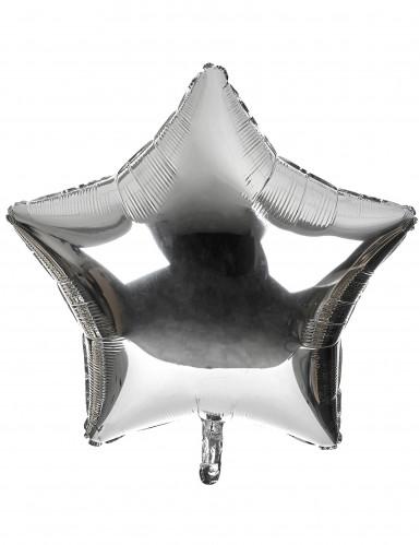 Palloncino gigante a forma di stella argentato