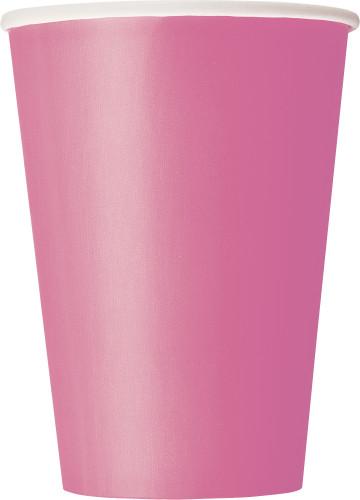 10 bicchieri di carta rosa 350 ml