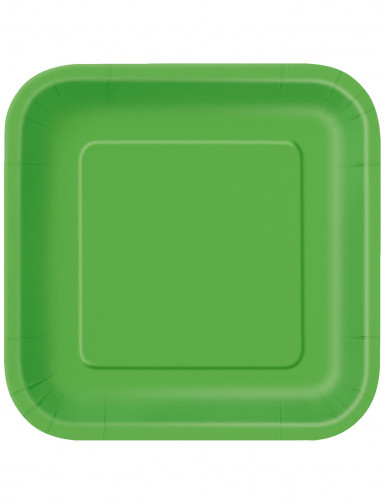 14 piatti quadrati di colore verde
