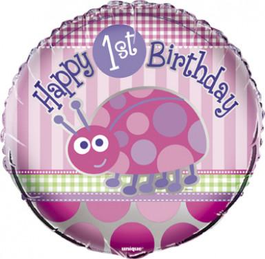 Palloncino primo compleanno rosa