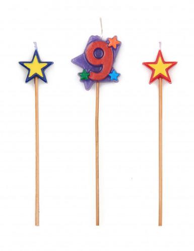 Set candeline alte e numero 9
