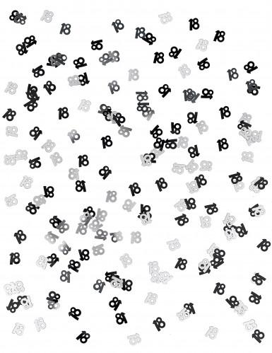 Coriandoli neri e grigi con il numero 18-1