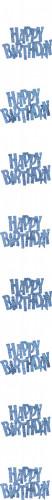 Decorazione da appendere blu Happy Birthday