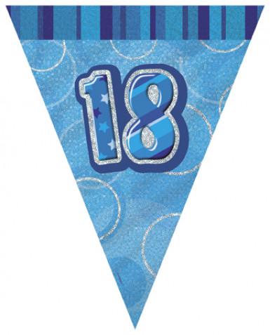 Ghirlanda di bandierine blu per 18 anni
