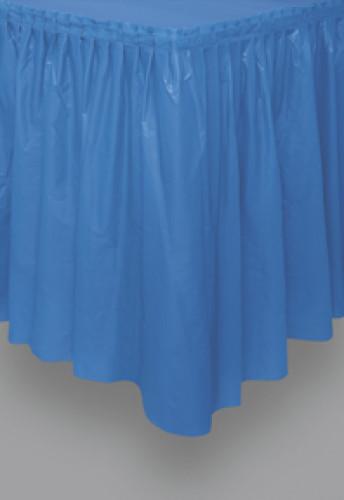 Gonna da tavola blu in plastica