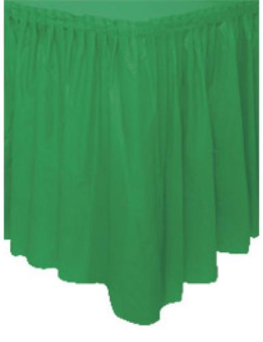 Gonna da tavolo in plastica verde