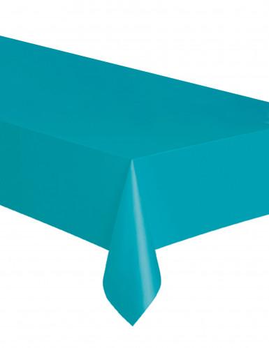 Tovaglia rettangolare in plastica blu caraibi