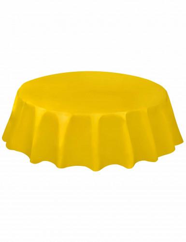 Tovaglia rotonda di plastica gialla