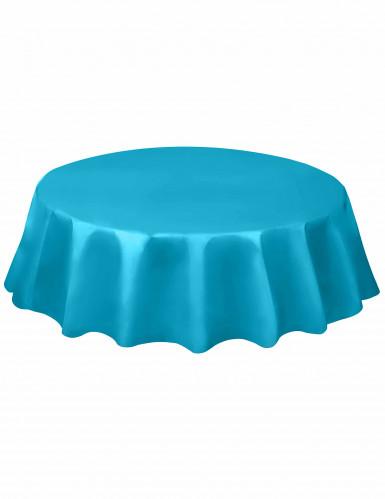 Tovaglia rotonda in plastica Blu Caraibi