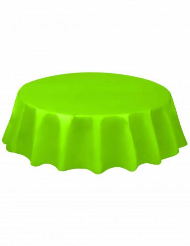 Tovaglia in plastica verde rotonda