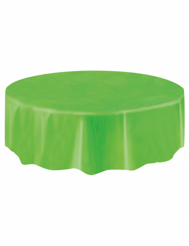 Tovaglia in plastica verde rotonda-1