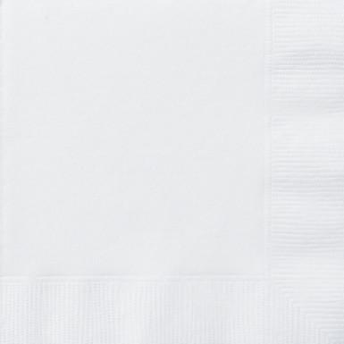 50 tovaglioli in carta bianchi 33 cm x 33 cm