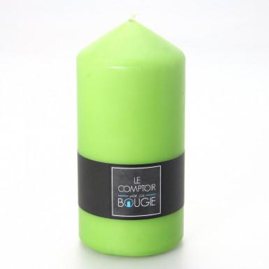 Grande candela cilindrica verde