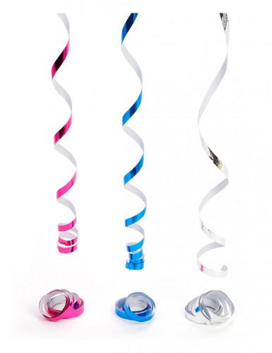 3 tubi di stelle filanti metallizzate per Capodanno