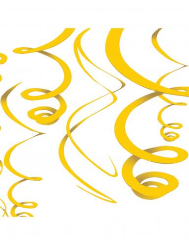 Addobbi da appendere riccioli gialli