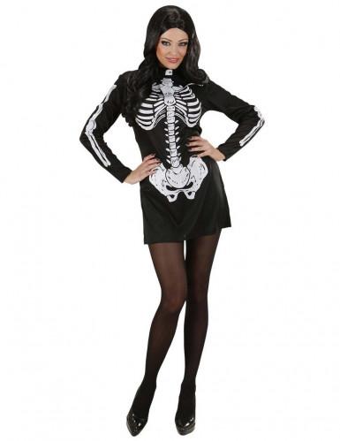 Costume da scheletro per Halloween da donna