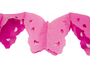 Ghirlanda di carta farfalle rosa